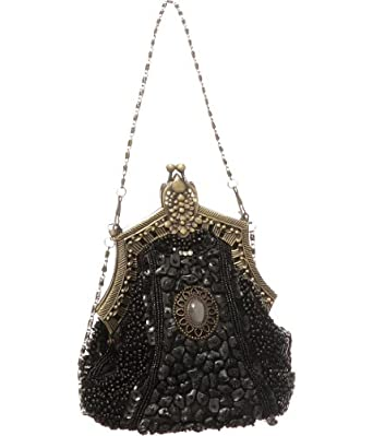 Black Beaded ''Victorian'' Vintage Style Evening Clutch