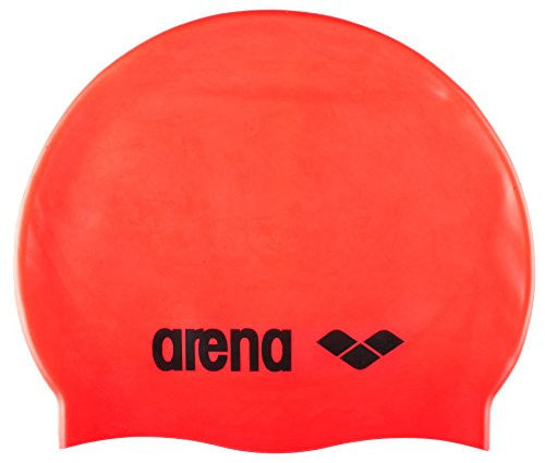 ARENA - CUFFIA CLASSIC LOGO SILICONE CAP - 9166240 - FLUO RED, BLACK