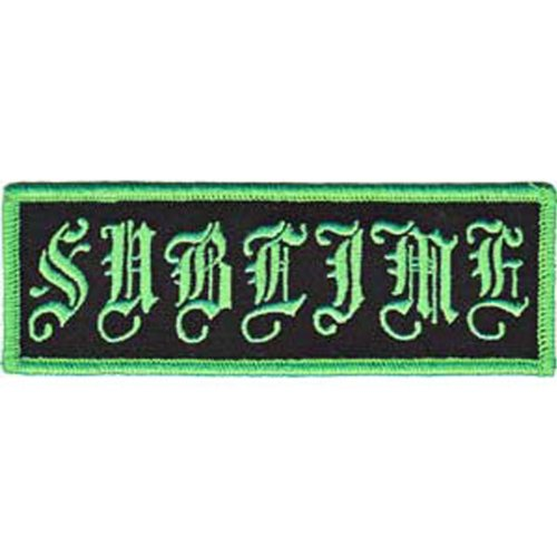 Application Sublime Old English Logo Patch