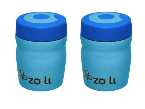 Zoli Dine Vacuum 12 oz Insulated Food Jar, 2 Pack - Blue - 1