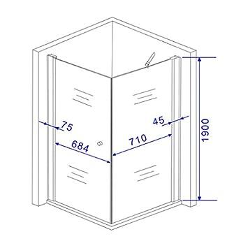cabine de douche banho one 80 80 x 80 x 190 190 cm sans bac bricolage m71. Black Bedroom Furniture Sets. Home Design Ideas