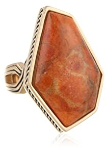 Barse Origin Orange Sponge Coral Ring by Barse