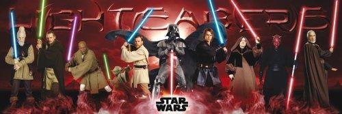 GB eye Poster Star Wars Lichtschwert, 53x158 cm, Größe: Maxi