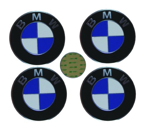 4 BMW Genuine OEM Wheel Center Cap Emblem Decal Sticker 70mm (BMW)