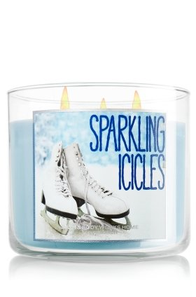 Bath & Body Works Sparkling Icicles 3 Wick Scented Candle 14.5 oz./411 g