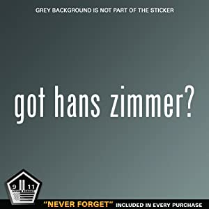 (2x) Got Hans Zimmer Logo sticker vinyl decals