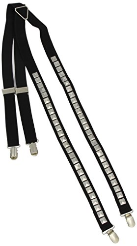 Smiffy's Men's Punk Braces with Studs, Black, One Size - 1