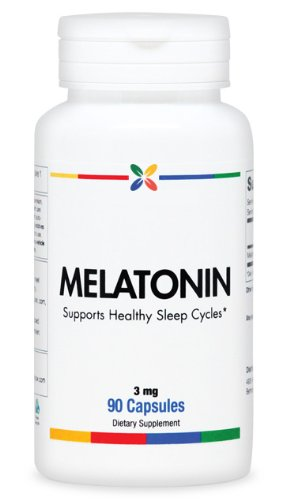 Melatonin Capsules 3 Mg - Premium Grade, Ultra Pure. Gluten And Soy Free   90 Caps. Made In The Usa (2 Pack ($8.95 Per Bottle))