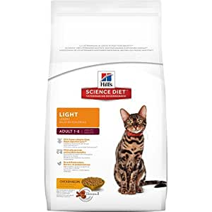 Hill's Science Diet Adult Light Dry Cat Food, 4-Pound Bag