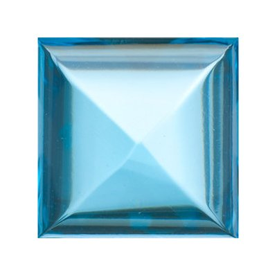 3.10 Cts of 8x8 mm AA Square Cabachon Swiss Blue Topaz ( 1 pc ) Loose Gemstone