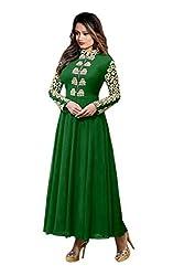 Sanjana Design Women's fashino Georgette dress material ( KS4015_Free Size_Green)