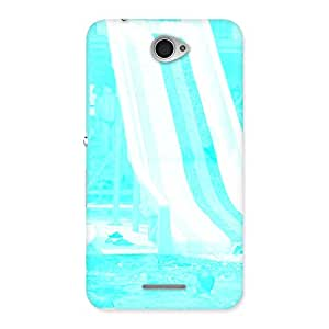 Special Ride Cyan White Back Case Cover for Sony Xperia E4
