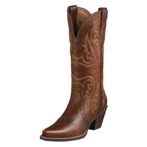 Ariat Womens Heritage Western X-Toe Boot, Vintage Caramel, 7.5 B US