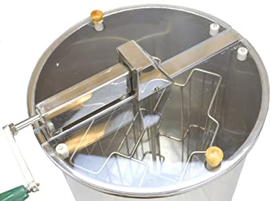 Honey Extractor-Stainless Steel 2 Frame Hand Crank Extractor without Legs