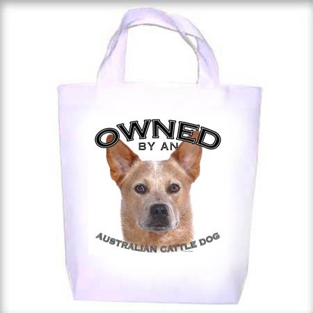 Australian Cattle Dog RED Owned Shopping - Dog Toy - Tote Bag