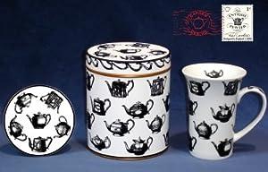 Paul Cardew Antique Pewter 14oz Mug, Coaster & Tin
