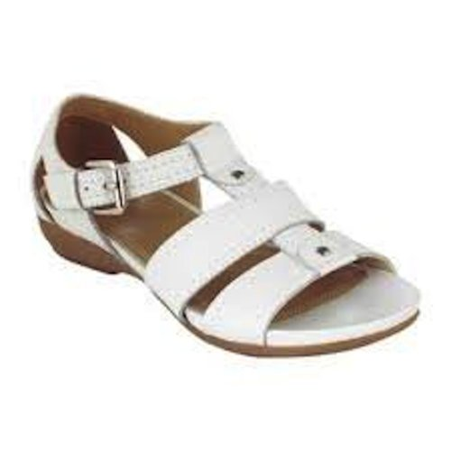 Canyon River Blues Women's Sarah Leather T-Strap Sandal - White (5.5) (Canyon River Blues Shoes compare prices)