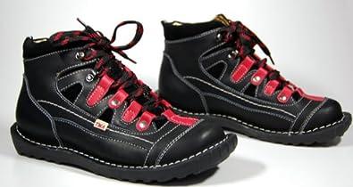 Leder Knöchel Schuhe Damen Comfort Schwarz Schuh echt Leder Gr. 42