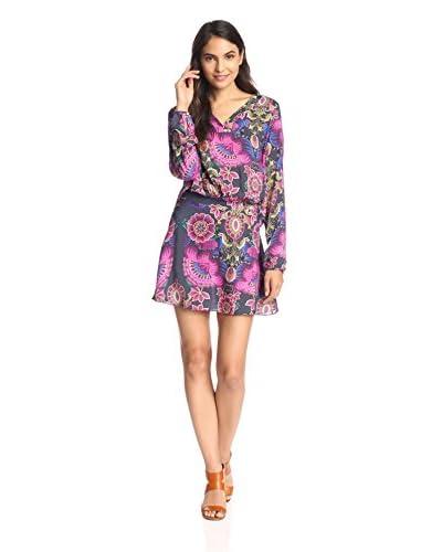 Lez a Lez Women's Boho Floral Shift Dress