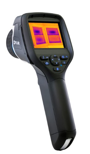 FLIR 49001-0801 model E50bx Compact Infrared Thermal Imaging Camera (240 x 180 IR Resolution) with on board Visual Camera, Wi-Fi, Picture-in-Picture, Thermal Fusion and Bright LED Light, Measures Temperature to 248°F (120°C)