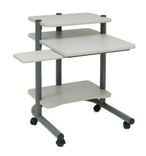 "Studio Designs 24""Computer Workstation in Pewter with Grey 18691"