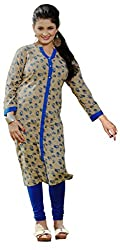 Lovely Look Latest Beige Printed Kurti