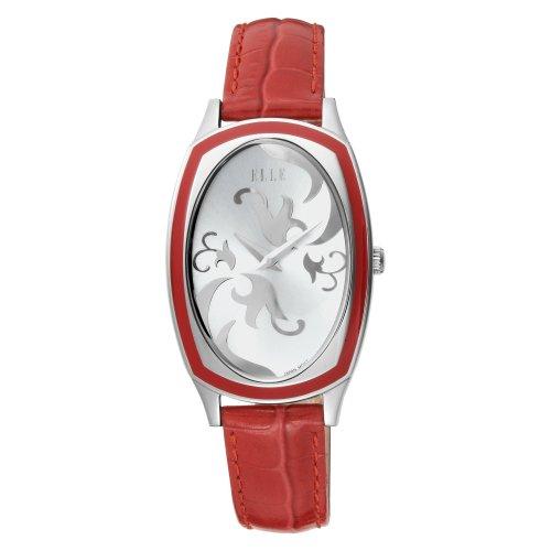 ELLETIME Women's EL20005S03C Steel Red Resin Red Strap Watch