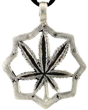 Cannabis, Marijuana, Pot, Mary Jane Necklace Pendant Charm Wicca Wiccan Pagan Metaphysical Spiritual Religious Women's Men's Jewelry
