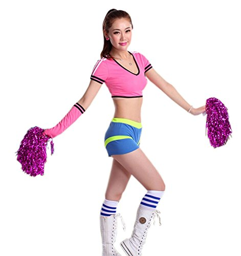 Soccer Cheerleader Costume/ Cheerleading Uniform/Cheerleader Outfit Size L PINK