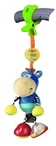 Klipp Klapp Pferd Rassel Babyrassel Lernspielzeug Motorikspielzeug für Kinderwagen Buggy Jogger