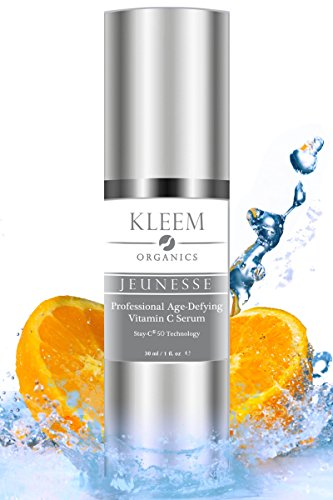 Kleem Organics® 20% VITAMIN C & E SERUM for Face with 10% Hyaluronic Acid, 1 Oz. The Italian Most PROFESSIONAL Anti Aging & Anti-Wrinkle Treatment, Skin Tightening and Dark Spot Removal. Doctor Trusted & Cruelty Free