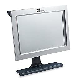 Deluxe LED Fogless Shower Mirror with Squeegee