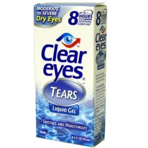 Clear Eyes Liquid Gel, Moderate to Severe Dry Eyes 0.5 fl oz (15 ml) (Pack of 4)