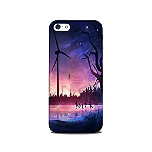 Mikzy Multicolour Lanscape With Windmills Printed Designer Back Cover Case for Iphone 5/5S (MultiColour)