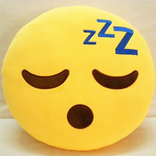 ToLuLu ® Soft Bedding Pillow, cuscino da divano Cuscino imbottito di peluche Novelty Home Decor _poo-Smile Sleeping Face