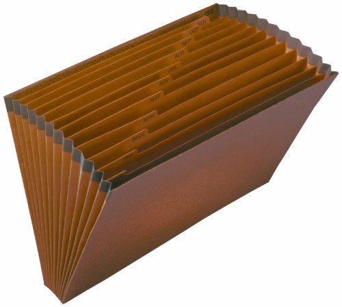 Pendaflex R-19M-OX Redrope Expanding File, Open Top, Jan.-Dec. Index, 15 x 10 deli new school office supplies file folder durable expanding wallet a4 18 index porta documentos convenient 40d72366