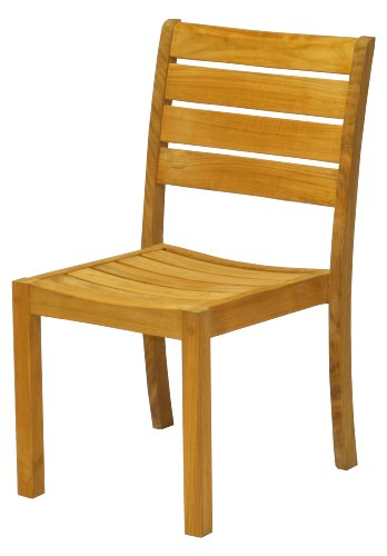 Three Birds Casual Sedona Stacking Side Chairs, Teak, Set of 2