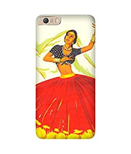 Dancing Girl-1 Micromax Canvas Knight 2 E471 Printed Back Cover