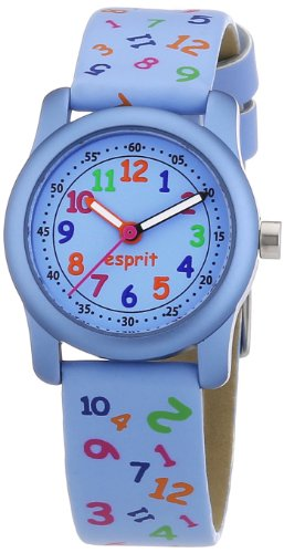 Esprit Kids - ES000FA4026 - Classroom Jumble - Montre Mixte - Quartz Analogique - Cadran Bleu - Bracelet Cuir Bleu