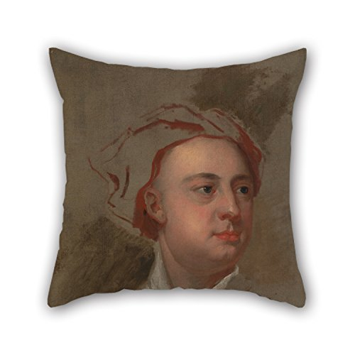 Slimmingpiggy The Oil Painting William Aikman - An Unfinished Study Of The Head Of James Thomson Pillowcase Of ,20 X
