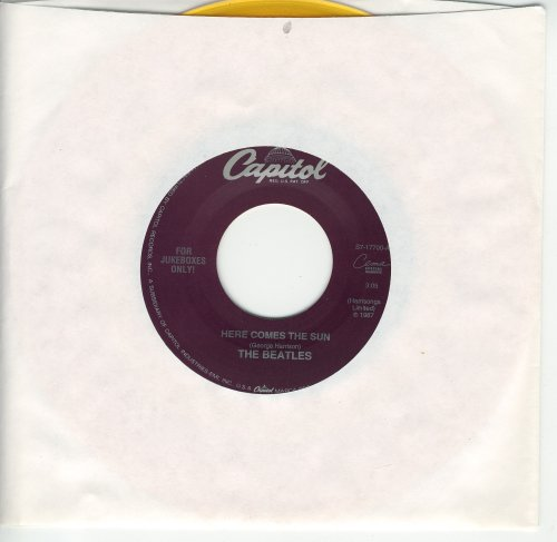 here comes the sun 45 rpm single by BEATLES