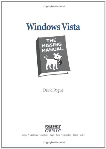 Windows Vista: The Missing Manual