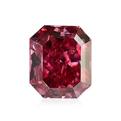 0.47Cts Fancy Red Loose Diamond Natural Color Radiant Cut GIA Certificate