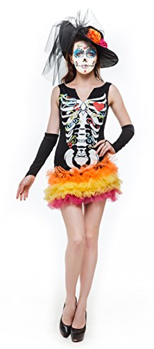 Whatsofun Women's Day of the Dead Costume