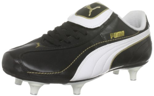 Puma Youth Esito XL SG Jr Black/White/Gold Sports Football Studs 101606-01 1 UK