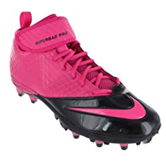 Nike Lunar Super Bad Pro TD Detachable Football Sports Cleats Vivid Pink by Nike