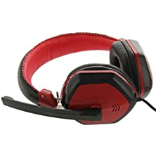 buy Yimeixuan Me888 Head-Mounted Surrounding Stereo Headset Game Wired Headphone For Computer Smartphone(Black Red)