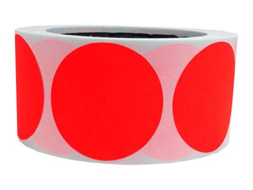Sticker autocollant pour carrelage 5 1 cm cm rond rouge fluo orange cod - Autocollant pour carrelage ...
