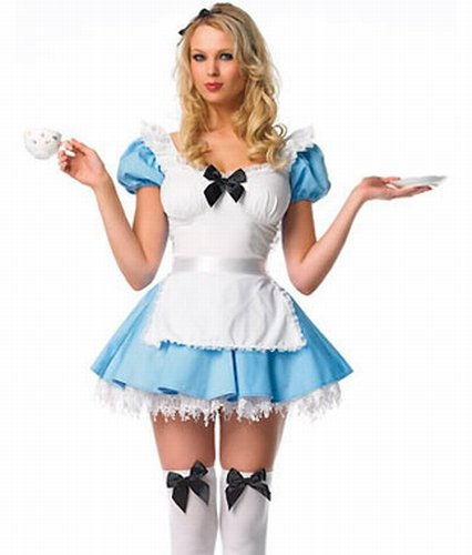 Blue Alice Maid Costume