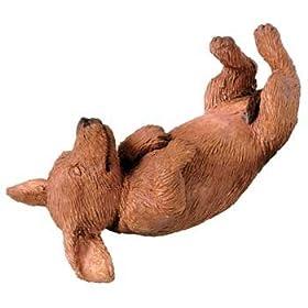 Sandicast Dachshund Snoozer Figurine - Red